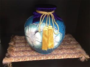壺のフタ用布