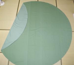 円形こたつ布団カバーグリーン