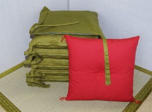 寿司カウンター椅子用座布団とひも付き座布団カバー