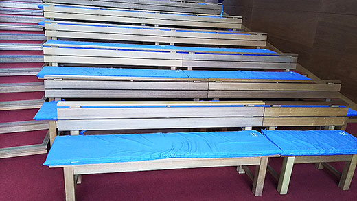 教会の長椅子用座布団クッションカバー